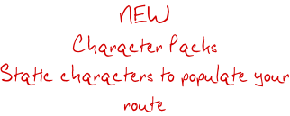 NEW Character Packs Static characters to populate your route